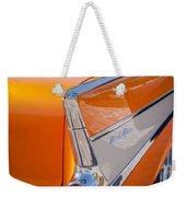 1957 Chevrolet Belair Taillight Emblem -019c Weekender Tote Bag