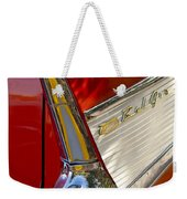 1957 Chevrolet Belair Taillight Weekender Tote Bag