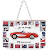 1957 Chevrolet Corvette Art Weekender Tote Bag
