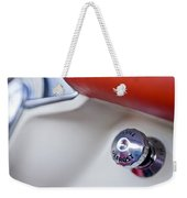 1957 Chevrolet Corvette Defrost Knob Weekender Tote Bag