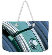 1957 Chevrolet Corvette Glove Box Weekender Tote Bag by Jill Reger