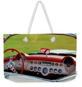 1957 Chevrolet Corvette Roadster Dashboard Weekender Tote Bag