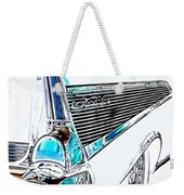 1957 Chevrolet Bel Air Art White Weekender Tote Bag