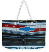 1957 Chevy Front Weekender Tote Bag