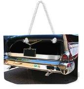 1957 Chevy Rear View Car Art Weekender Tote Bag