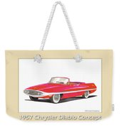 1957 Chrysler Diablo Convertible Coupe Weekender Tote Bag by Jack Pumphrey