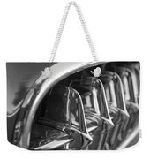 1957 Corvette Grille Black And White Weekender Tote Bag by Jill Reger
