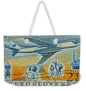 1957 Czechoslovakia Airline Stamp Weekender Tote Bag