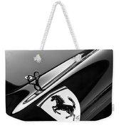 1957 Ferrari Tr 250 - 0714 Emblem -0379bw Weekender Tote Bag