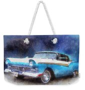 1957 Ford Classic Car Photo Art 02 Weekender Tote Bag