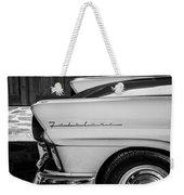 1957 Ford Fairlane Emblem -359bw Weekender Tote Bag