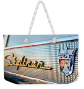1957 Ford Skyliner Retractable Hardtop Emblem Weekender Tote Bag
