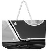 1957 Ford Thunderbird Window Black And White Weekender Tote Bag