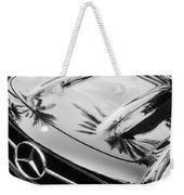 1957 Mercedes-benz 300sl Grille Emblem -0167bw Weekender Tote Bag