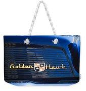 1957 Studebaker Golden Hawk Supercharged Sports Coupe Emblem Weekender Tote Bag