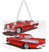 1957 Studebaker Silver Hawk Weekender Tote Bag
