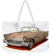 1957 Thunderbird Weekender Tote Bag
