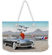 1957 Thunderbird  With F-84 Gunmetal Vintage Ford Classic Art Sketch Rendering           Weekender Tote Bag
