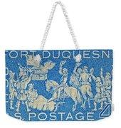 1958 Battle Of Fort Duquesne Stamp Weekender Tote Bag