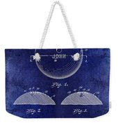 1958 Bowling Patent Drawing Blue Weekender Tote Bag