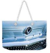 1958 Buick Roadmaster 75 Convertible Grille Emblem Weekender Tote Bag