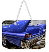 1958 Cadillac Deville Rear Fin Weekender Tote Bag