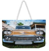 1958 Chevrolet Bel Air Impala Painted   Weekender Tote Bag