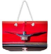 1958 Chrysler Imperial Crown Convertible Emblem Weekender Tote Bag