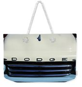 1958 Dodge Sweptside Truck Grille Weekender Tote Bag