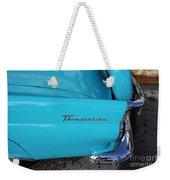 1958 Ford Thunderbird Detail Weekender Tote Bag