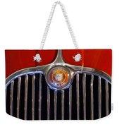 1958 Jaguar Xk150 Roadster Grille Emblem Weekender Tote Bag by Jill Reger