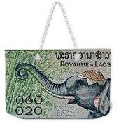 1958 Laos Elephant Stamp II Weekender Tote Bag