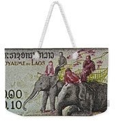 1958 Laos Elephant Stamp IIi Weekender Tote Bag