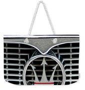 1958 Maserati Hood Emblem Weekender Tote Bag