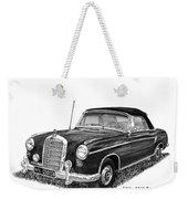 1958 Mercedes Benz 220s Weekender Tote Bag