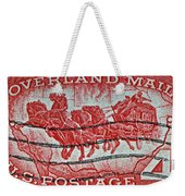 1958 Overland Mail Stamp Weekender Tote Bag