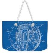 1958 Space Satellite Structure Patent Blueprint Weekender Tote Bag
