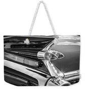 1959 Cadillac Eldorado Taillight -097bw Weekender Tote Bag