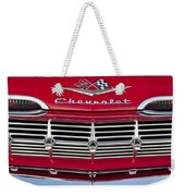 1959 Chevrolet Grille Ornament Weekender Tote Bag by Jill Reger