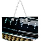 1959 Desoto Adventurer Hood Emblem Weekender Tote Bag