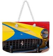 1959 Ferrari 250 Gt Coupe Grille Emblems Weekender Tote Bag