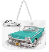 Retractable Hard Top Weekender Tote Bag