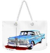 1959 Ford Edsel Ranger 4-door Sedan Weekender Tote Bag