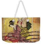 1959 Japanese Postcard Mail Weekender Tote Bag