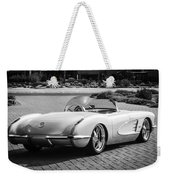 1960 Chevrolet Corvette -0880bw Weekender Tote Bag