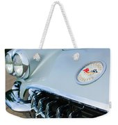 1960 Chevrolet Corvette Hood Emblem Weekender Tote Bag