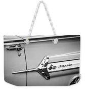 1960 Chevrolet Impala Emblem -340bw Weekender Tote Bag