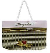 1960 Chrysler Windsor Hood Grill Weekender Tote Bag