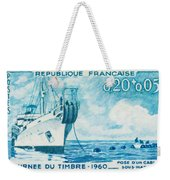 1960 Day Stamp Installation Of A Submarine Cable Weekender Tote Bag