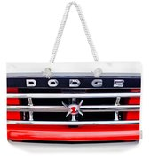 1960 Dodge Truck Grille Emblem Weekender Tote Bag by Jill Reger